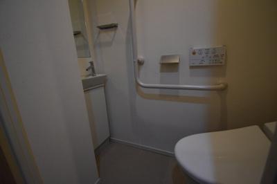 トイレに手洗い場がついております