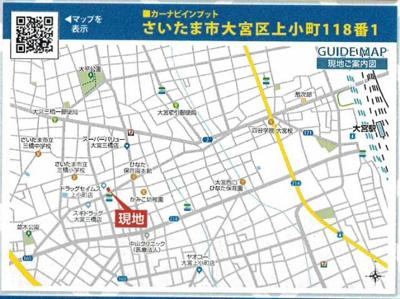 【地図】注目の地域 新築戸建 さいたま市大宮区上小町
