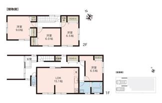 4LDKです。  4LDK 駐車並列2台可 居室は全て6帖以上あり、お掃除が楽なフローリング仕様です。