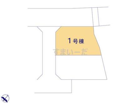 【区画図】クレイドルガーデン倉敷市林第11 1号棟