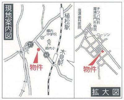 【地図】クレイドルガーデン倉敷市林第11 1号棟