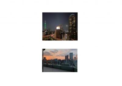 9階テラスはガラスフェンス、東京タワーの夜景も楽しめます!