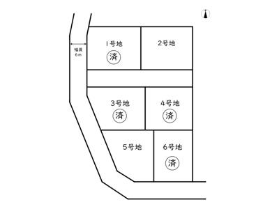 【区画図】たつの市新宮町井野原/6区画