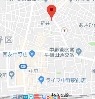 【地図】ファーレ中野Ⅰ