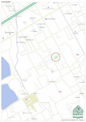 【地図】コゾタウン郡家Ⅲ