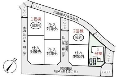 【区画図】リーブルガーデン倉敷・林第2 3号棟