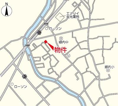 【地図】リーブルガーデン倉敷・林第2 3号棟