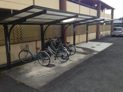 バイク自転車置場