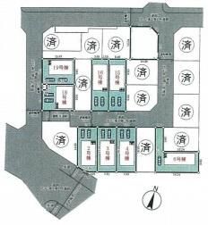 【区画図】神戸市垂水区青山台5丁目 新築戸建 全9棟