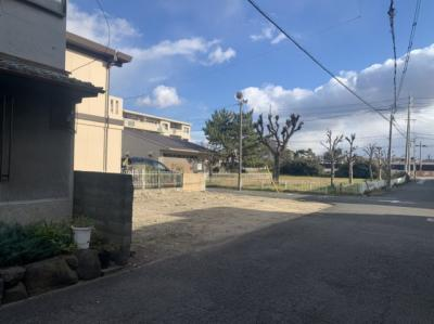【前面道路含む現地写真】泉大津市小松町売土地 建築条件なし