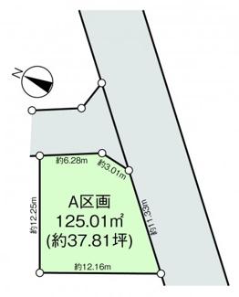 【区画図】横浜市青葉区黒須田土地(A区画)