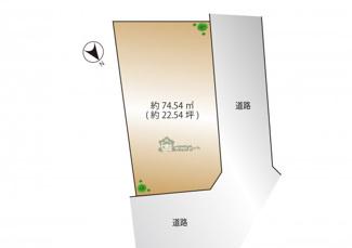 【土地図】千代田区三番町 建築条件なし土地