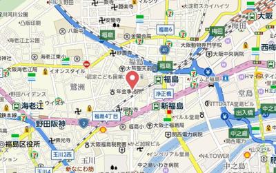 【地図】ALZA福島