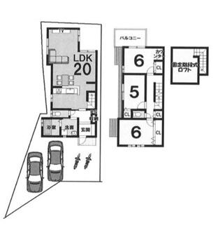 建物参考プラン延床面積:85.86平米