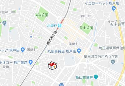 【地図】レオネクストやわらぎ(53624-205)