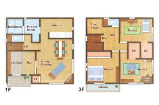 3LDK+S(納戸)ジブンハウス仕様 独立性を高めたお部屋。たっぷりの収納も配備しており、片付いた空間を現実出来そう。陽光も降り注ぐ明るく開放的な空間が魅力的。