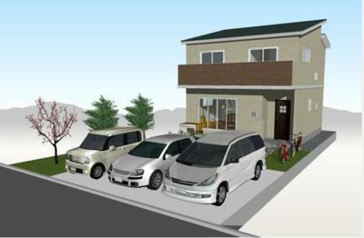 【外観】高知県香南市野市町西野 新築住宅