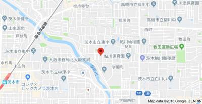 【地図】ベルメゾン茨木
