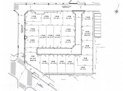 【区画図】神戸市垂水区青山台5丁目 土地 6号棟
