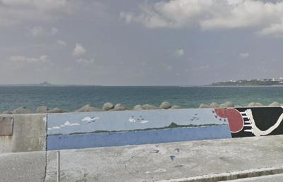 【前面道路含む現地写真】本部海沿いの築浅一軒家