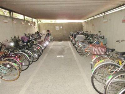 管理された駐輪場