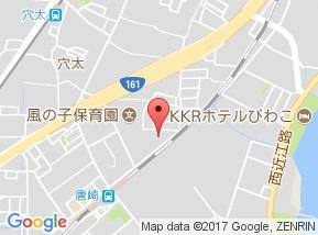 【地図】リビングタウン唐崎 A棟
