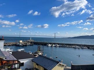 3階部分からの眺望です憧れの明石大橋、淡路島が目の前に広がっています。