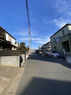 千葉市中央区末広 土地 本千葉駅 前面道路6mの為、駐車の苦手な方も安心です。