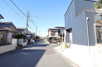 千葉市若葉区若松町 新築一戸建て 桜木駅 車通りも少ない閑静な住宅街です