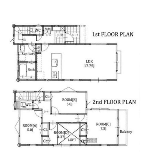 土地面積95.31平米 建物面積82.21平米 4LDK! 収納付きの使い勝手の良い間取りです!