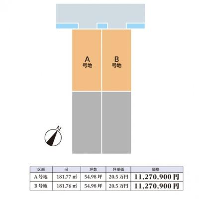 【区画図】鳥取市宮下分譲地