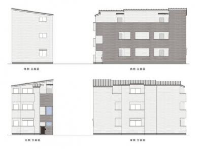 【外観パース】T.A足立区大谷田3丁目ⅡB棟