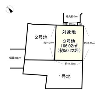 【土地図】野洲市冨波乙【3区画】3号地 売土地