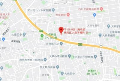 【地図】ヴィアロ大泉学園町レジデンス(59305-211)