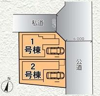 【区画図】青木町公園すぐそばの新築戸建て 川口市西青木4期