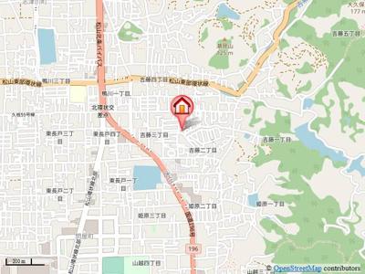 【地図】ドミールハイツⅢ・