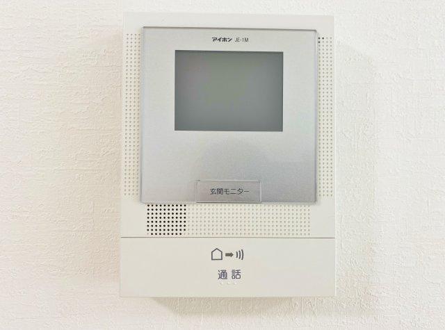 TVモニター付きインターホン完備 来訪者をモニターで確認でき安心です