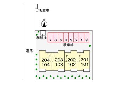 【駐車場】リバーサイド弐番館