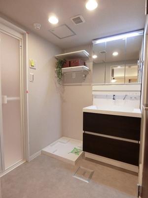 室内洗濯機置場がある洗面室です。