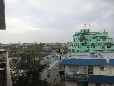 マンションからの眺望です。5階に位置し開放感がございます。