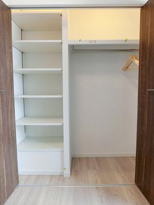 システム収納やWICが備わりかさばるお荷物もすっきりです。
