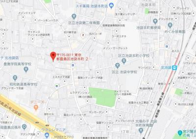 【地図】ステージ池袋本町