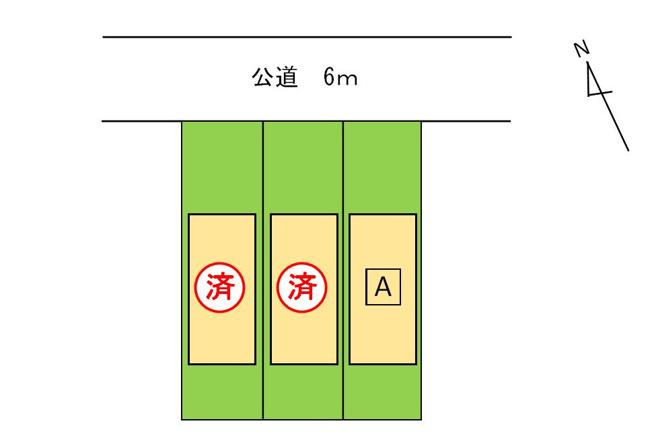 【区画図】二重堀内田1期 A棟