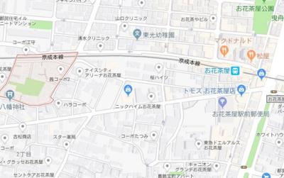 【地図】ラウレアお花茶屋