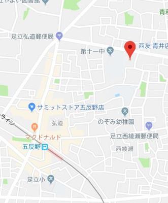 【地図】ラウレア五反野