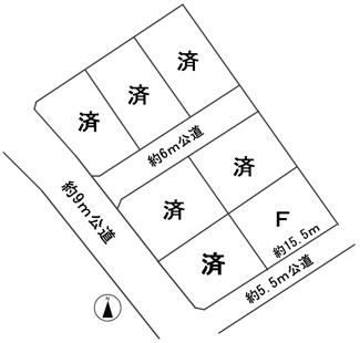 【区画図】56143 羽島市正木町須賀分譲地