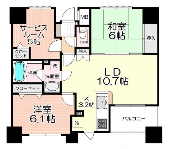 サービスルーム5帖は居室としてもご利用いただけます♪
