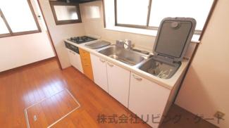 食器洗い機付きのキッチン