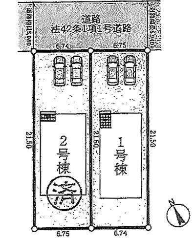 【区画図】神戸市垂水区学が丘第5-1号棟 新築戸建