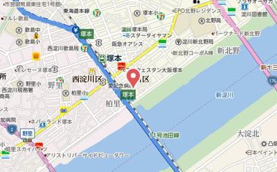 【地図】セオリー大阪アーバンレスト